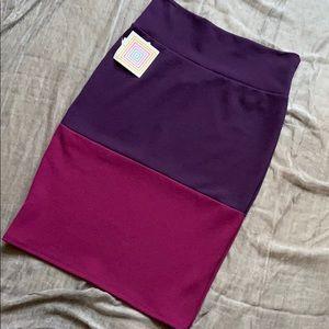 LuLaRoe Color Block Pencil Skirt
